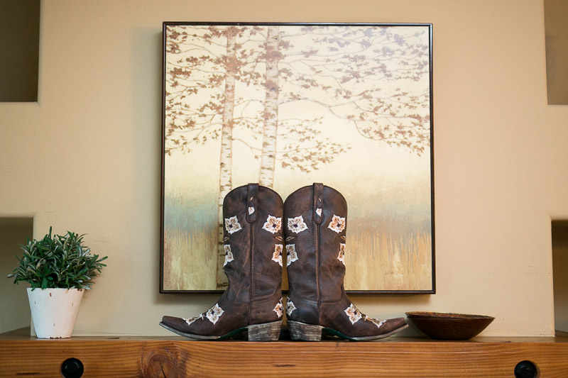 steamboat springs wedding photography cowgirl boots