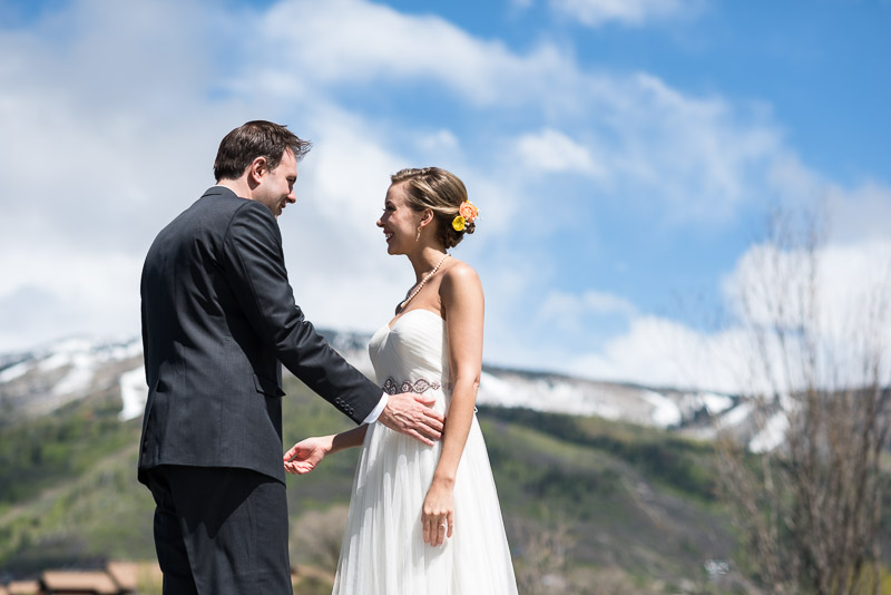 steamboat springs wedding photography first look