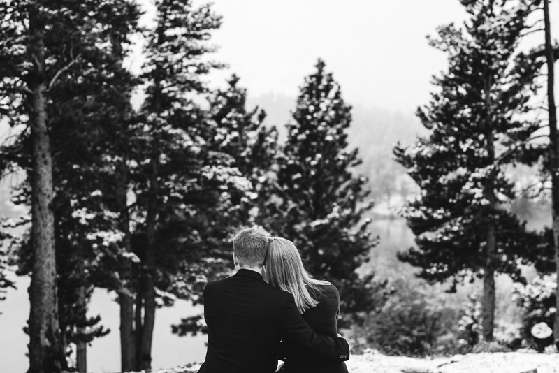 Boulder Engagement Photography leaning together