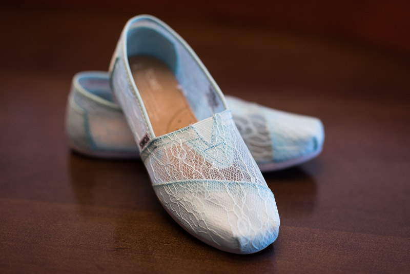Denver Wedding Photography Cherokee Ranch and Castle bride toms shoes