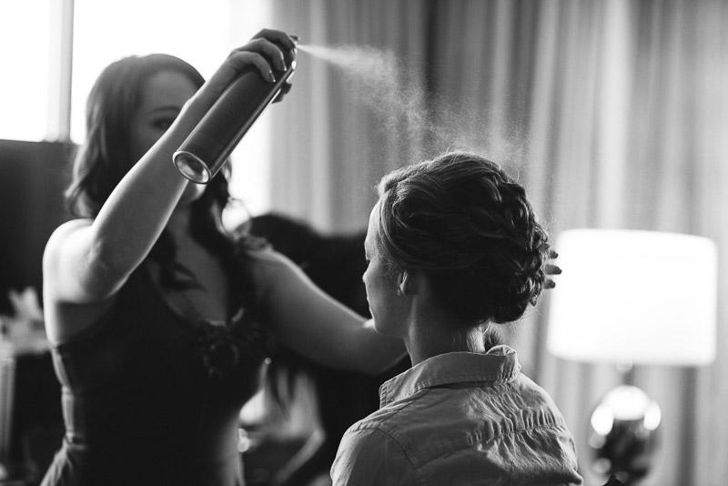 Denver Wedding Photography Cherokee Ranch and Castle bride hairspray