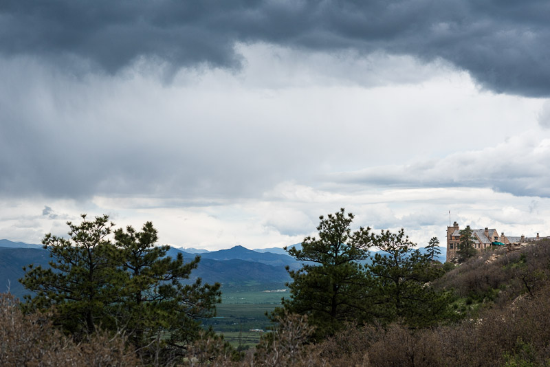 Denver Wedding Photography Cherokee Ranch and Castle stormy colorado skies