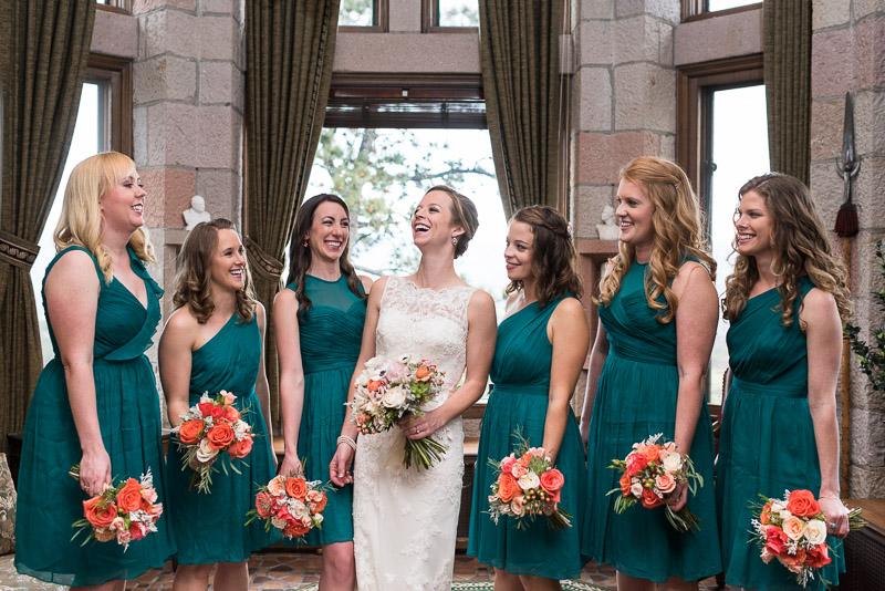 Denver Wedding Photography Cherokee Ranch and Castle bridesmaid portrait