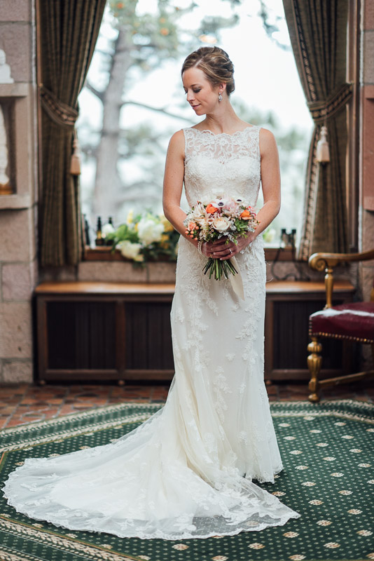 Denver Wedding Photography Cherokee Ranch and Castle bride portrait