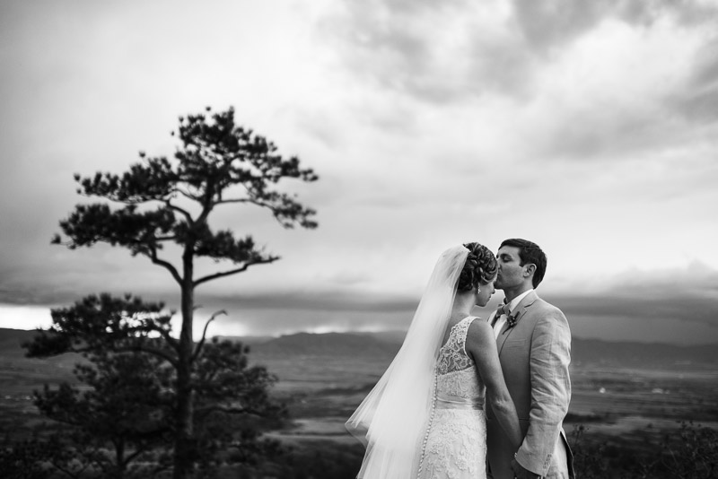 Denver Wedding Photography Cherokee Ranch and Castle forehead kiss