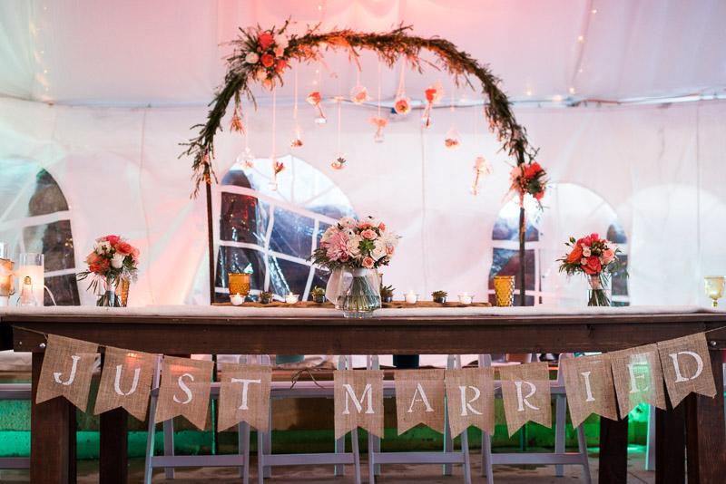 Denver Wedding Photography Cherokee Ranch and Castle head table