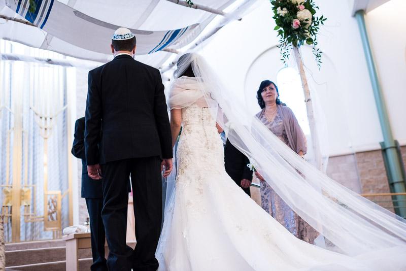 denver jewish wedding photographer ceremony