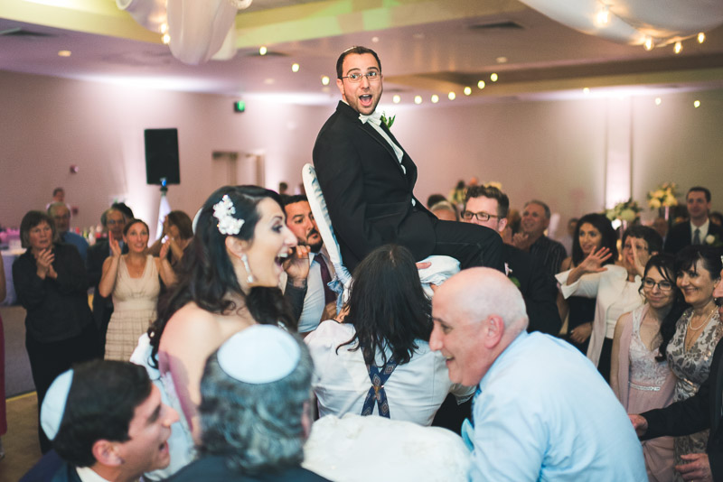 denver jewish wedding photographer hora