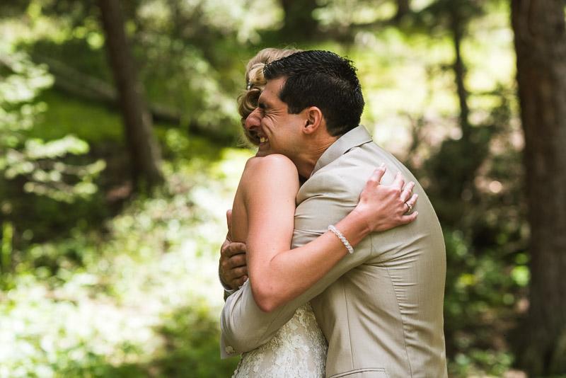 Emily and Ryan Lower Lake Ranch Wedding Photography hug