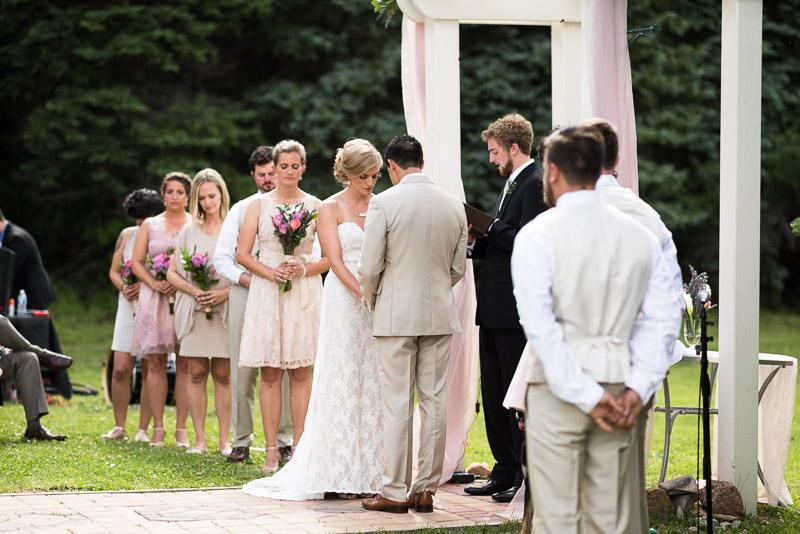 Emily and Ryan Lower Lake Ranch Wedding Photography prayer
