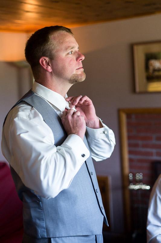 Cuchara Wedding Photographer groom tie