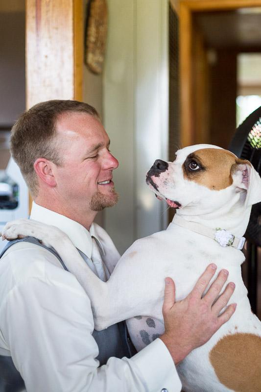 Cuchara Wedding Photographer groom dog