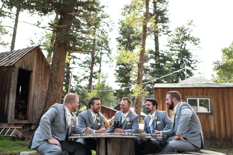 Cuchara Wedding Photographer groomsmen laughing
