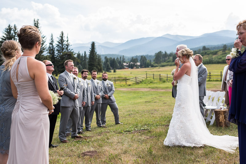 Cuchara Wedding Photographer crying bride with mountains