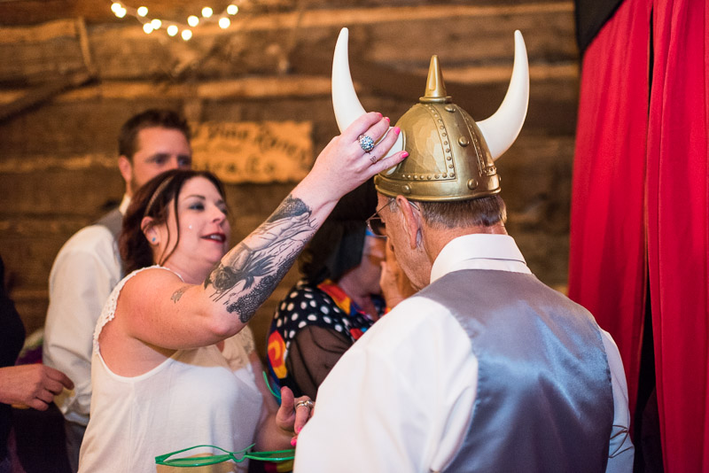 Cuchara Wedding Photographer viking helmet