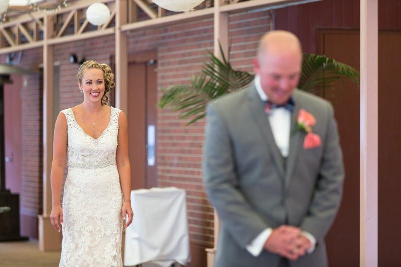Denver athletic club wedding first look