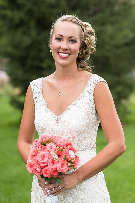 Denver athletic club wedding bride portrait