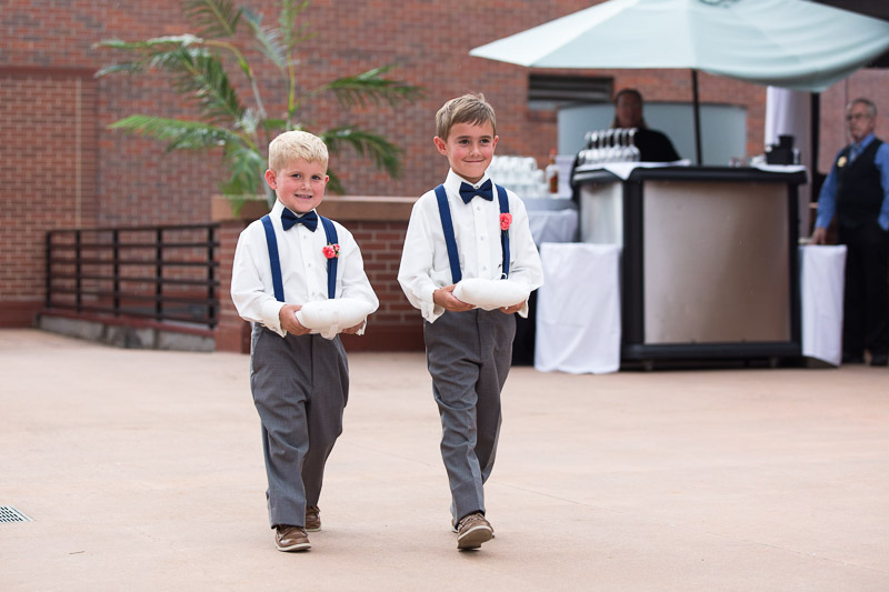 Denver athletic club wedding ringbearers