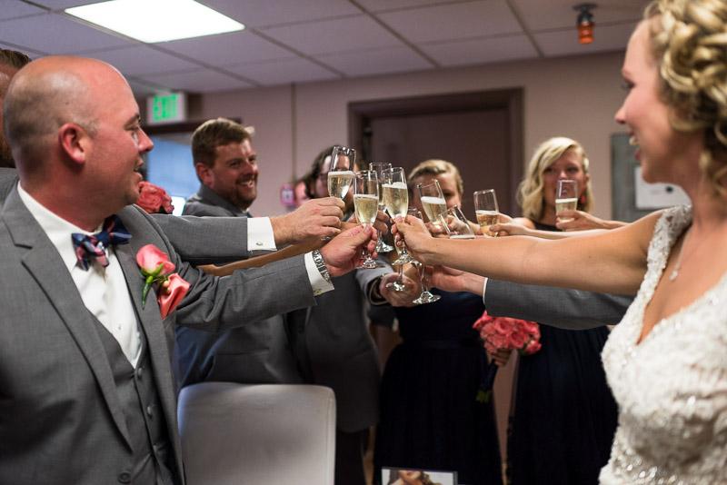 Denver athletic club wedding toast