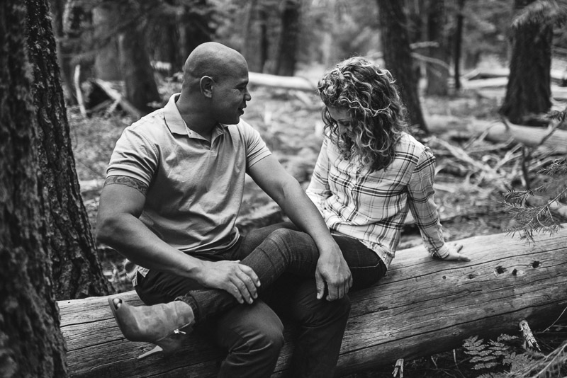 Tahoe Engagement Photography laughing couple
