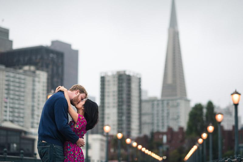 San Francisco engagement photography pier 7 transamerica building
