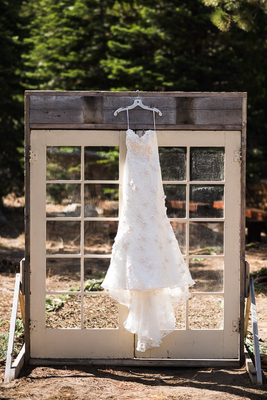 Lake Tahoe Wedding Photographer wedding dress