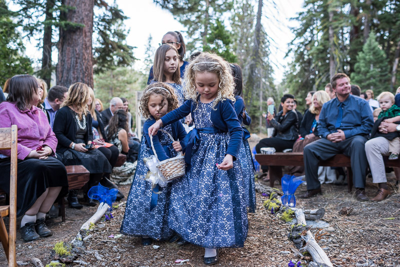 Lake Tahoe Wedding Photographer flower girls
