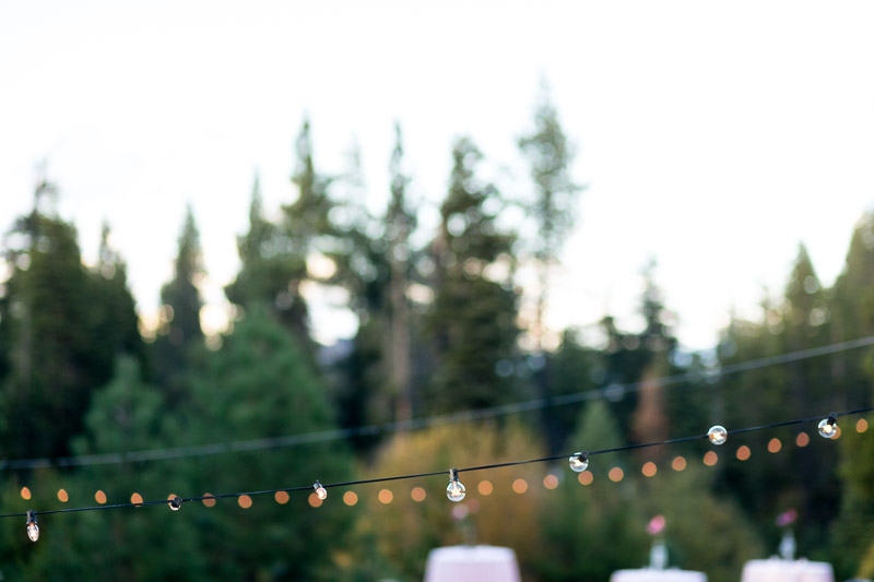 Lake Tahoe Wedding Photographer bistro lights