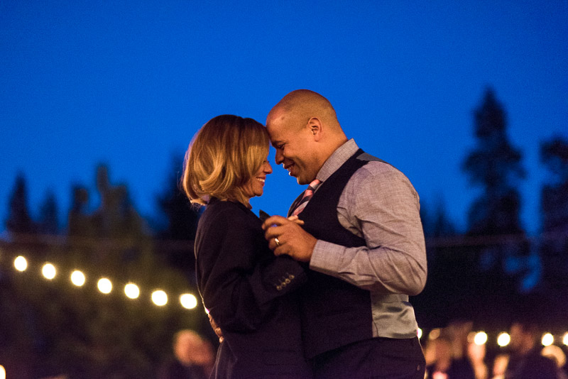 Lake Tahoe Wedding Photographer first dance