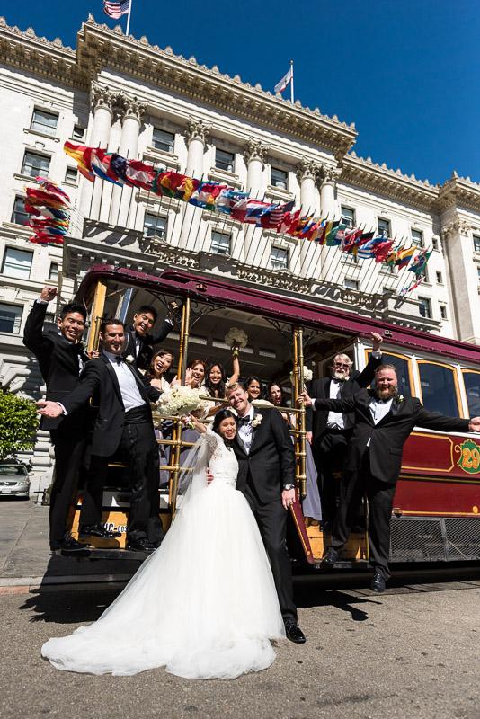 San Francisco Fairmont Hotel Wedding Photography