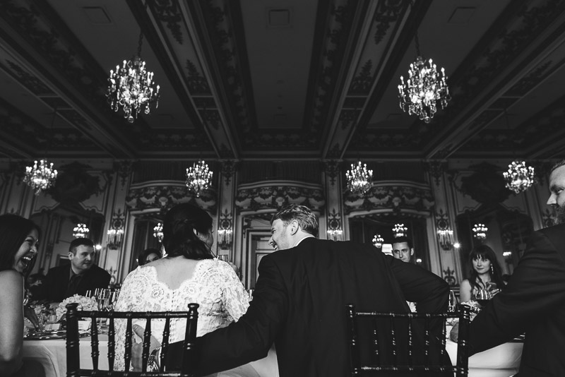 San Francisco Fairmont Hotel Gold Room Wedding Photography