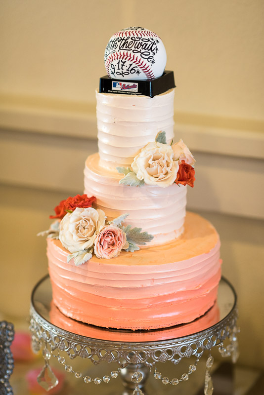 San Francisco Wedding Photography cake with baseball