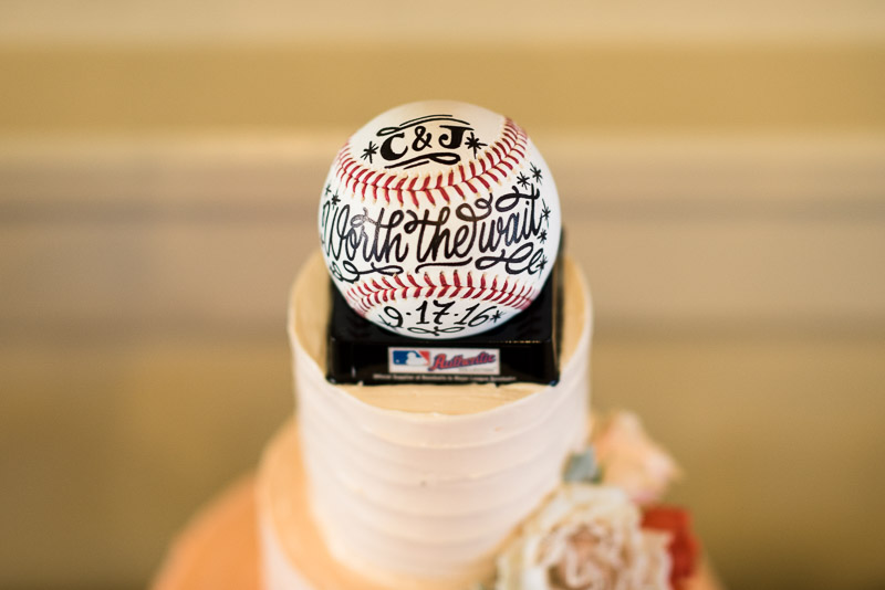 San Francisco Wedding Photography cake baseball