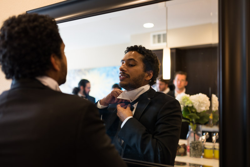 San Jose wedding photography groom getting ready