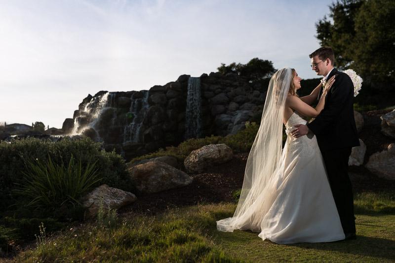 San Jose Silver Creek Country Club waterfall wedding photography