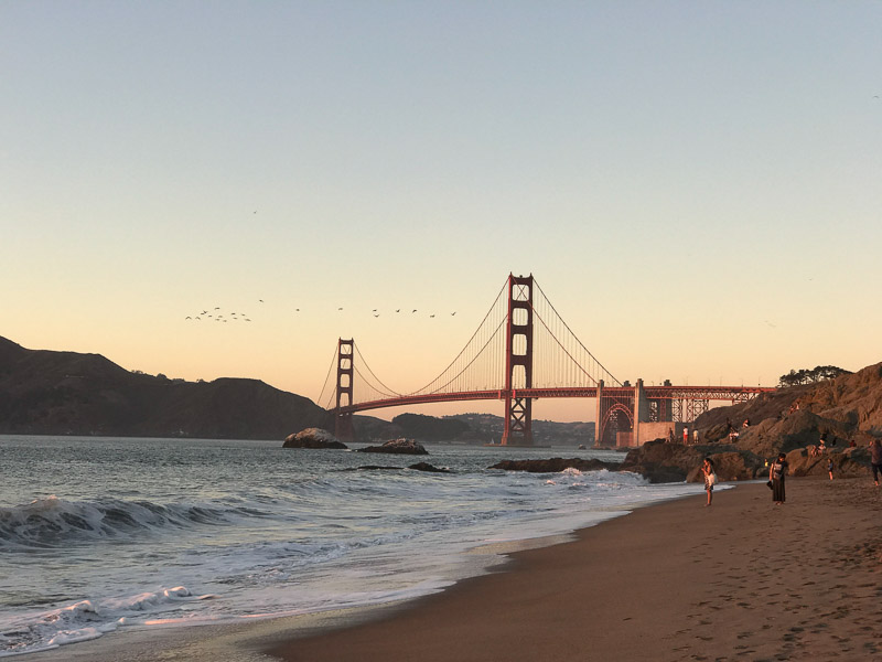 San Francisco Golden Gate Bridge Baker Beach