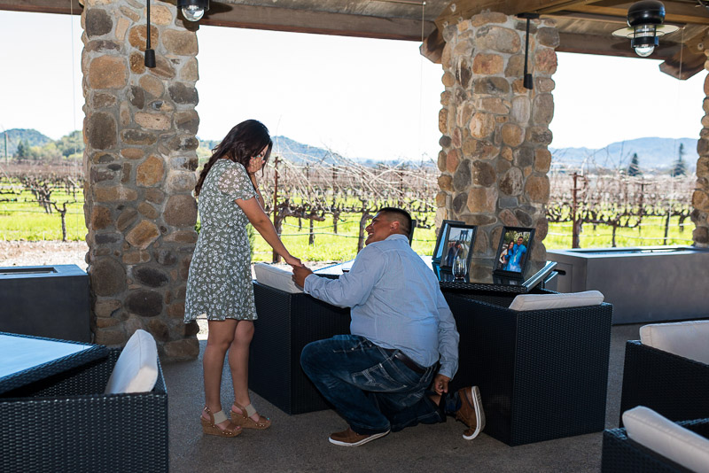 Napa Vineyard Proposal Photography paraduxx winery