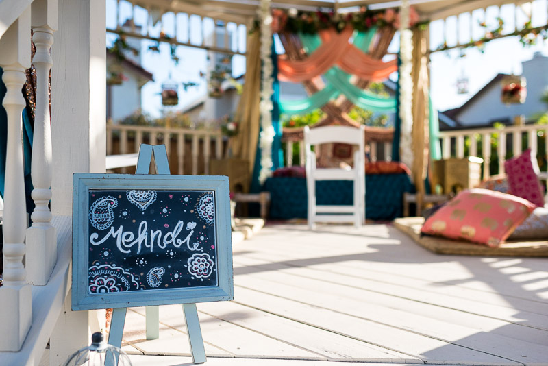 San Francisco Mehndi Ceremony Photographer sign