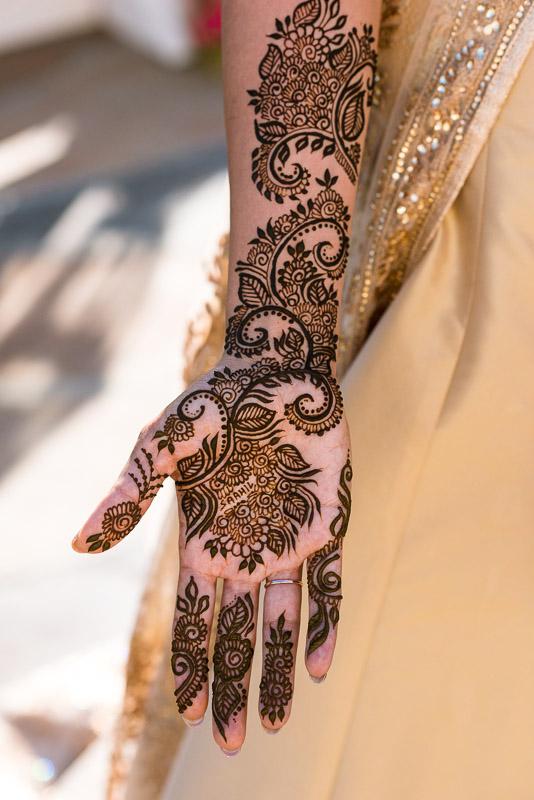San Francisco Mehndi Ceremony Photographer henna hand