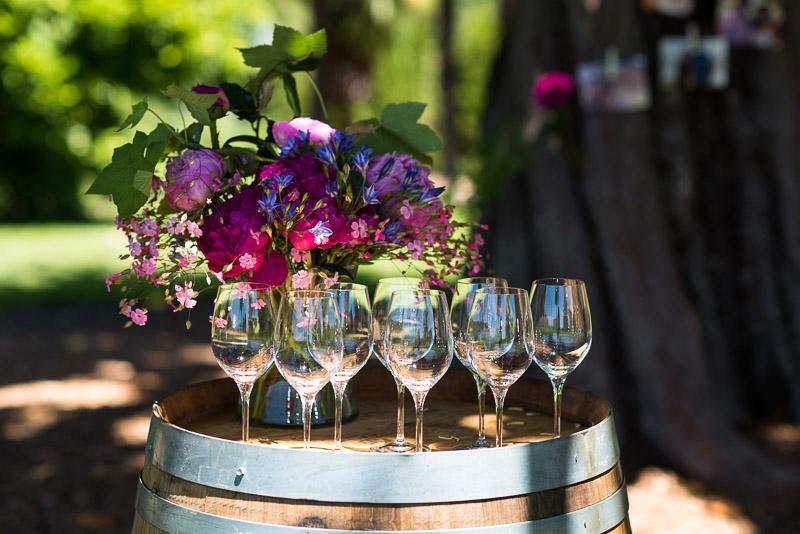 Sonoma Vineyard Proposal Photography Chateau St Jean wine glasses