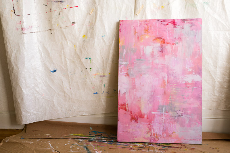 Chloe san francisco abstract expressionism painter pink painting