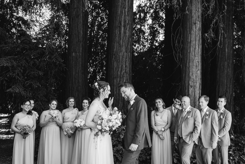 deer park villa wedding photography bridal party