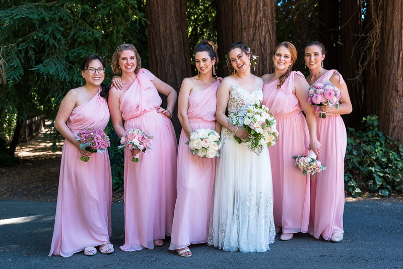 deer park villa wedding photography bridesmaids