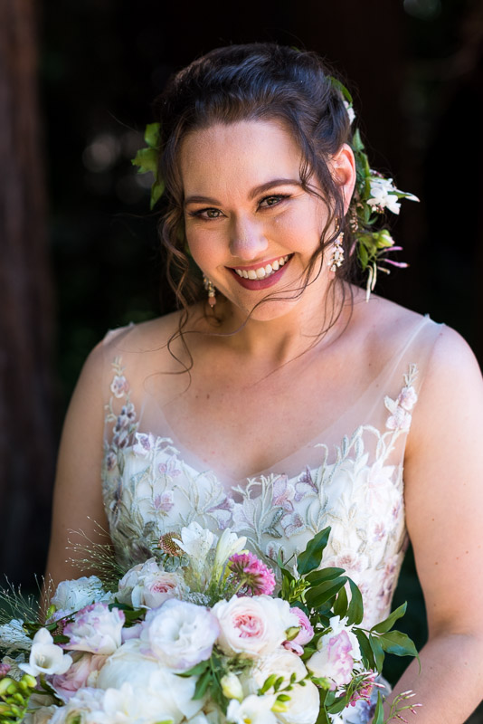 deer park villa wedding photography laughing bride portrait