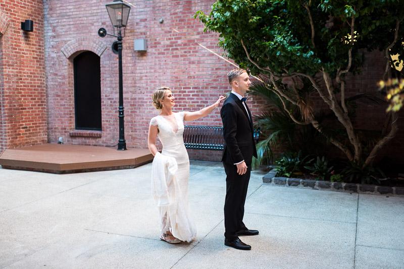 San Francisco Wedding Photographer Argonaut Hotel first look