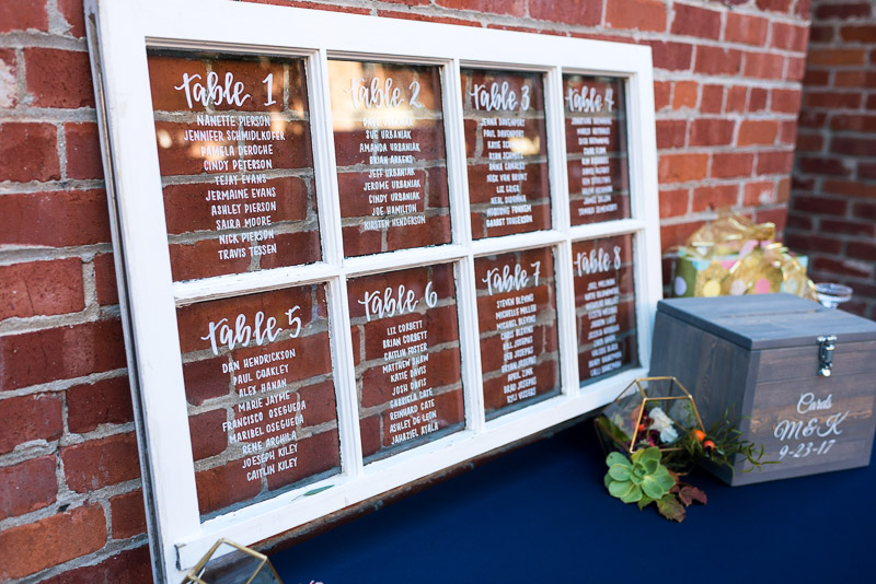 San Francisco Wedding Photographer Argonaut Hotel window seating chart