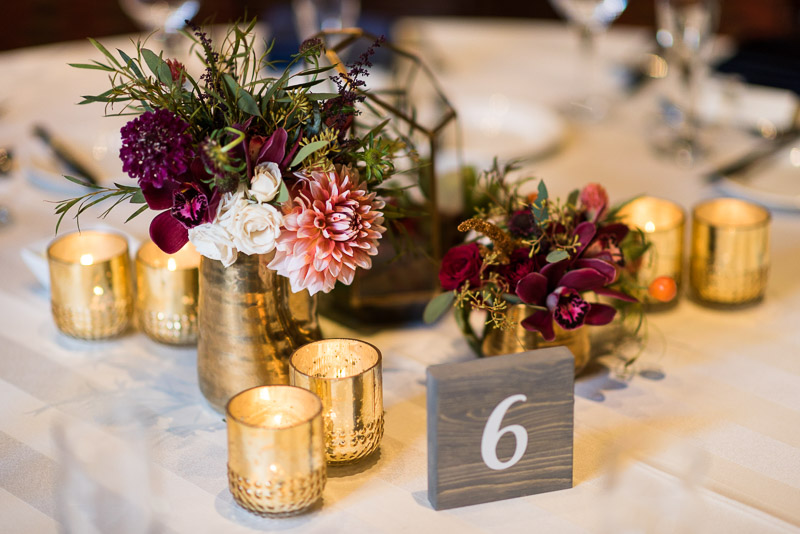 San Francisco Wedding Photographer Argonaut Hotel table decor