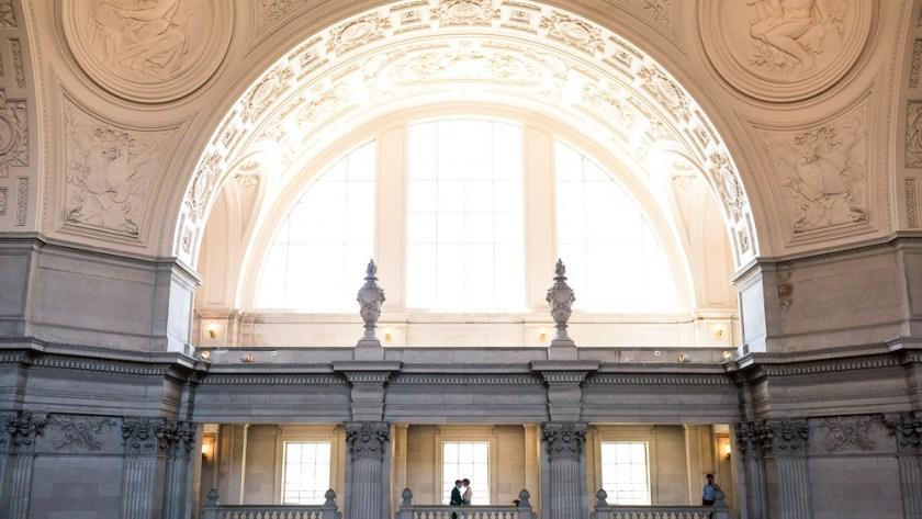 san francisco city hall epic wedding photo