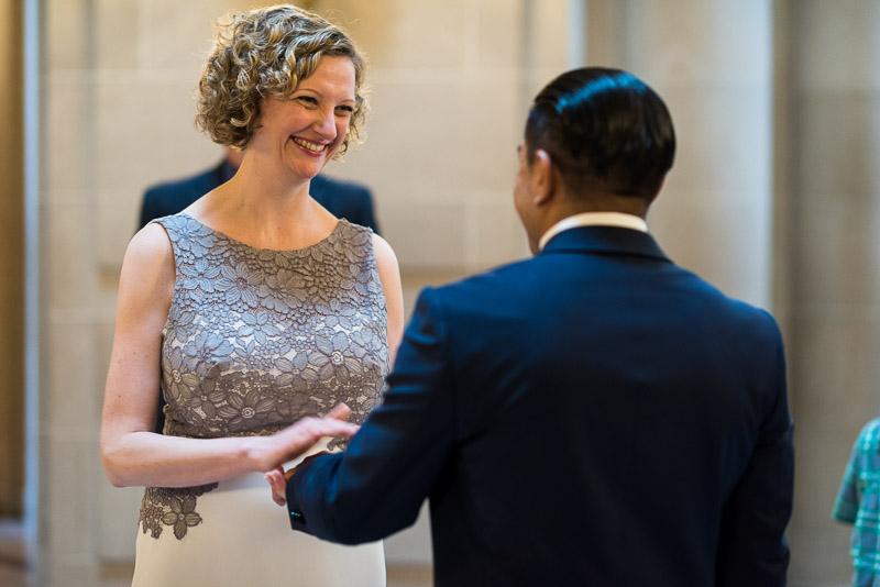san francisco city hall happy bride