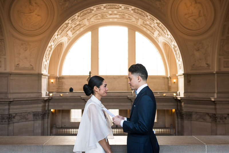 San Francisco City Hall fourth floor wedding